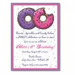 Donut Birthday Invitation - Custom ..