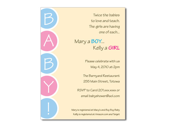 Twinjoint baby shower invitation on luulla twinjoint baby shower invitation filmwisefo
