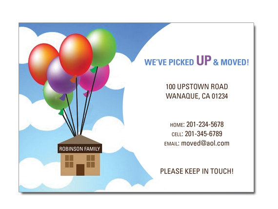 moving up moving announcement invitation on luulla