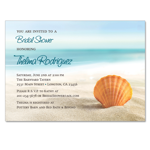 beach ocean themed invitation on luulla