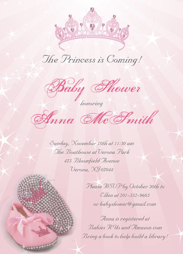 Princess baby shower invitation on luulla princess baby shower invitation filmwisefo Images