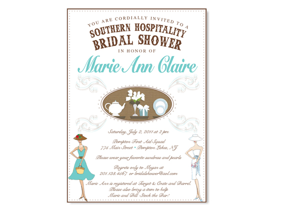 48141eef74b Southern Hospitality Themed Bridal Shower Invitation on Luulla