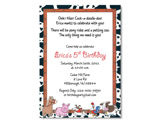 Farm Petting Zoo Birthday Invitation On Luulla