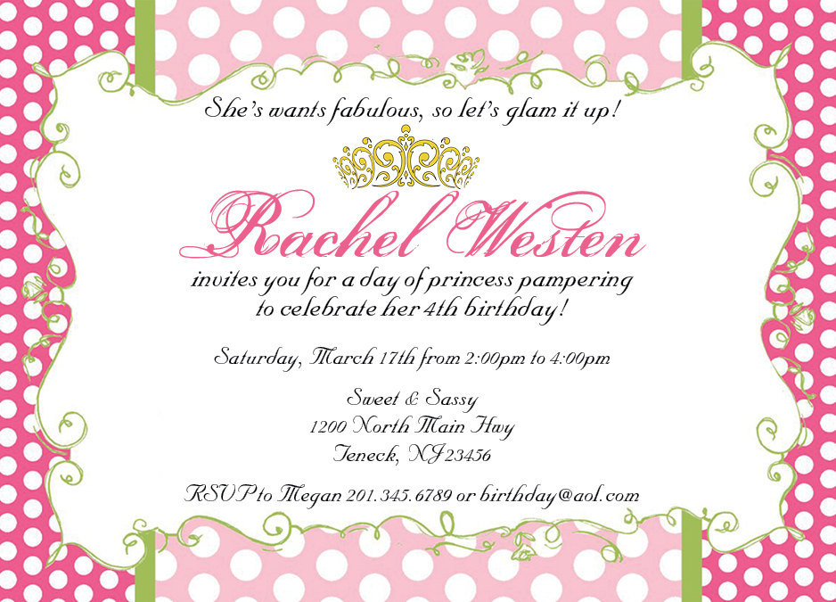 Royal Princess Or Queen Invitation on Luulla