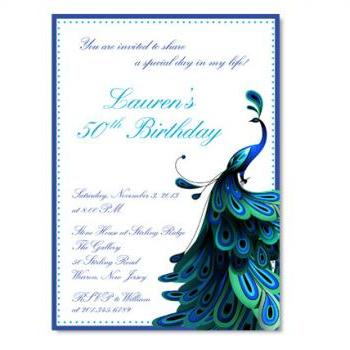 Peacock Themed Invitation