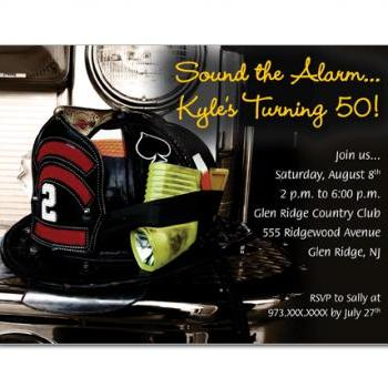 Firefighter Birthday / Retirement Custom Invitations